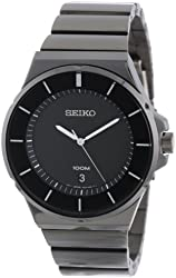 Seiko Men's SGEG21 New Collection Classic Black Ion Finish Watch