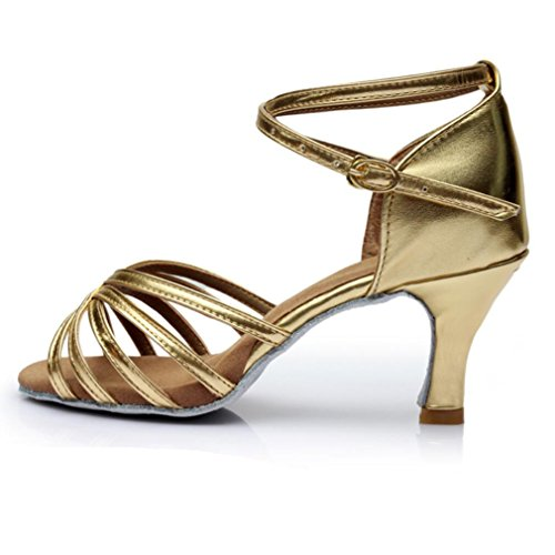 América Zapatos De Baile Zapatos De Baile Sólo Femenina Interior Suave Satén Inferior Cinco piezas de oro 7cm