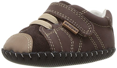 pediped Baby Originals Jake Crib Shoe, Chocolate, 12-18 Months EU Infant (5-5.5 US)