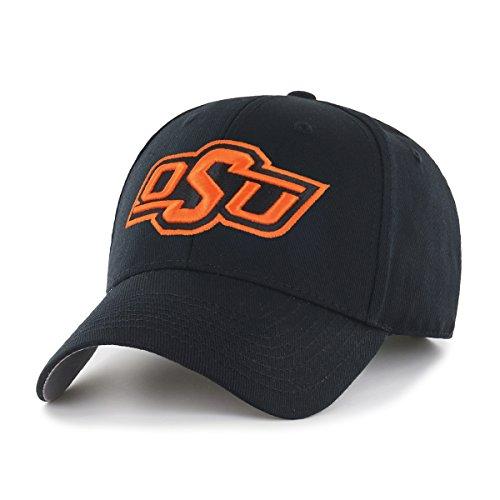 Oklahoma State University Logos - OTS NCAA Oklahoma State Cowboys All-Star MVP Adjustable Hat, Black, One Size