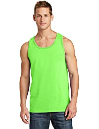 Port & Company Men's Comfortable Cotton Tank Top_Neon Green_M