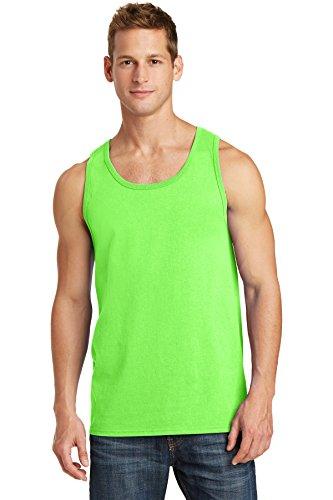 Port & Company 5.4-oz 100% Cotton Tank Top. PC54TT Neon Green XL ()