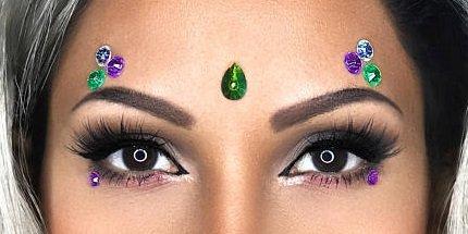 Moonlight Nymph - Eye Sticker Body Art Crystals - Rhinestones Face Jewel - Festival Gems Costume Accessory Unicorn - Forehead Jewelry (Moonlight (Nymph Costume Makeup)