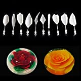 minansostey 11 Pcs Set Flowers Leaves 3D Jelly Art