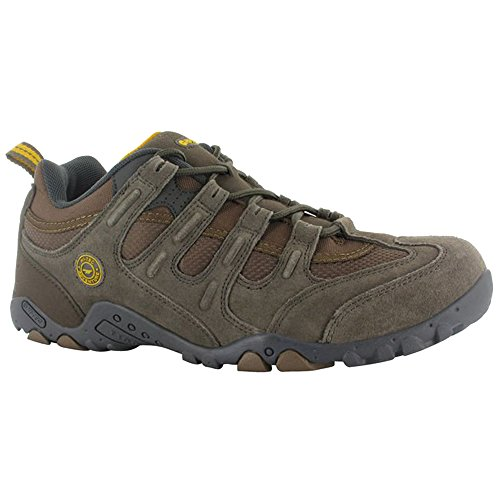 Hi-Tec Mens Quadra Classic Trail Shoes Charcoal Grey/Black/Red KCx1dS4v