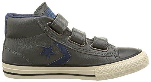 Converse Sp 3v Lea Mid - Zapatillas de estar por casa Unisex niños Gris (Gris/Bleu)