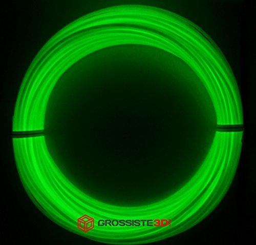 Rouleaux de 10 mètres Fil 3D Phosphorescent Vert ABS 1.75mm pour stylo 3D ou imprimante 3D Grossiste3D®