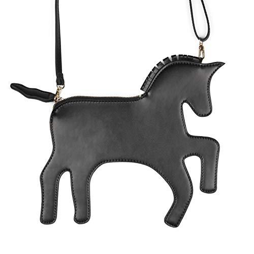 Body Cross Horse Women's Lui Sui Clutches Purses Shoulder Novelty Unicorn Bag wWf17p4q