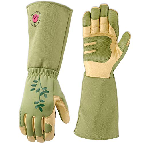 Women's Rose Pruning Rosetender Gardening Gloves with Forearm Protection, Medium (Wells Lamont 4127M)