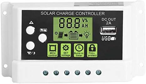PWM Intelligenter Solarladeregler, 12 V 24 V 10/20 / 30A Regler LCD Anzeige USB Ausgang(KYZ-30A)