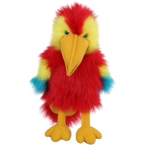 Bird Infant Puppets - The Puppet Company Baby Birds Scarlet Macaw Hand Puppet