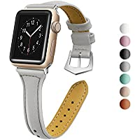 oceBeec Compatible for Apple Watch Band 38mm 40mm 42mm 44mm, iWatch Band Slim Genuine Leather Wristband Replacement Strap for iWatch Bands Series 4, Series 3, Series 2, Series 1, Sport, Edition