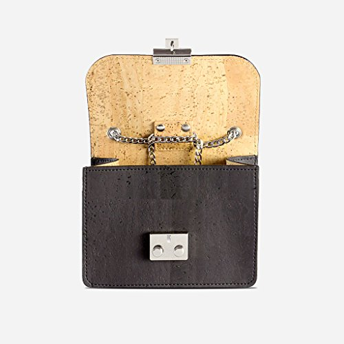 Friendly Mini Corkor Vegan amp; Fashionable Black Women Free Cork Hands Eco For Handbag BFnqSHzBg