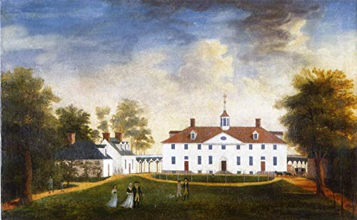 Canvas Mount Collection (Edward Savage Mount Vernon from The Carriage Entrance 1791 Private Collection 30
