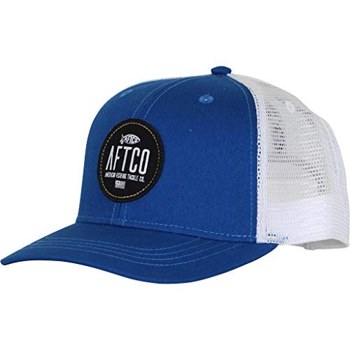 AFTCO Circular Trucker hat Navy OS-W2