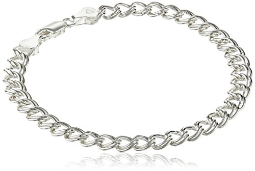 Sterling Silver Double Link Chain Bracelet