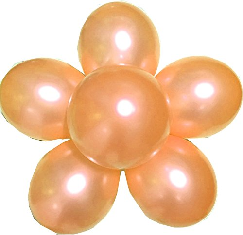 Elecrainbow 100 Pack 12 Inch 3.2 g/pc Thicken Round Metallic Pearlescent Latex Balloons - Shining Orange Balloons for Party Supplies and Decorations