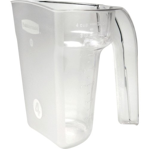 Rubbermaid Commercial FG9G5300CLR Safety Portioning Scoop for Sliding Lid, 4-Cup Capacity, Clear