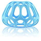 Honeypie Baby Bottle Holder: Premium Silicone Bottle Cover that Gives any Bottle Handles; Makes Feeding Baby Easier (for Wide Neck Bottles)-(Color: Blue)