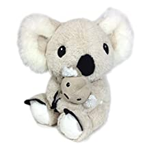 Cloud B Mama Koala and Baby with Soothing Sounds, Natural Beige
