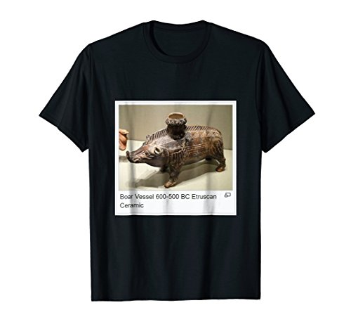 Esctrucan Ceramic Boar Vessel Shirt 500 to 600 BC