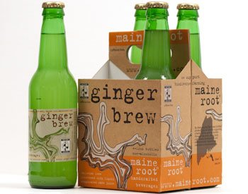 Maine Root Ginger Brew Soda, 12 Ounce - 4 per pack -- 6 packs per - Fund Gingers