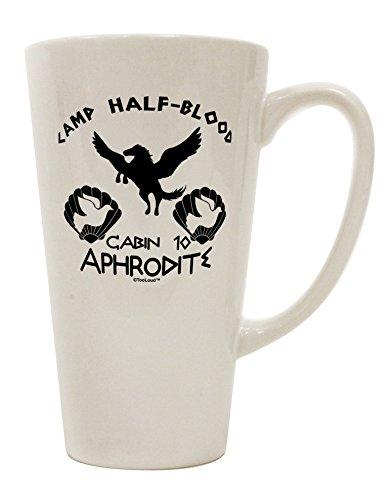 TooLoud Cabin 10 Aphrodite Camp Half Blood 16 Ounce Conical Latte Coffee Mug