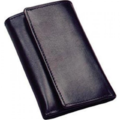 (Winn International Harness Cowhide Leather Key Case w/Key Ring in Black)