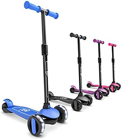6KU Scooter for Kids Ages 3-5 with Flash Wheels , Kids Scooter 4 Adjustable Height, Toddler Scooter Extra-Wide PU LED Wheels, 3 Wheel Scooter for Kids for Girls & Boys Learn to Steer
