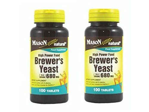4 Bott BREWER'S YEAST 680 mg 10.5 Grain Energy Lower Sugar Whole food nutrition with B vitamins, proteins, and trace minerals for ENERGY.