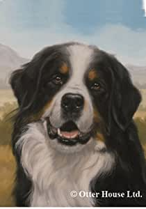 Bernese Mountain Dog: Indoor/Outdoor House Flag 28 x 40 inches