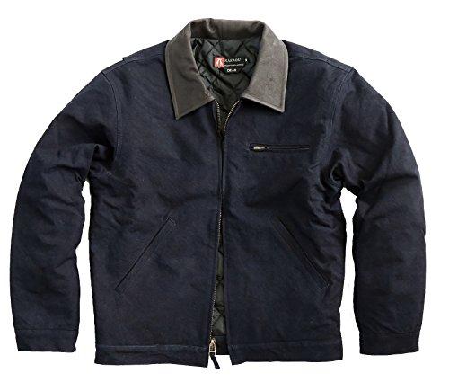 Gefüttert Blu Und Herren Jacket 2 Outdoorjacke Dean Lederkragen Warm wahl Navy Mit Reißverschluss PPqIU6
