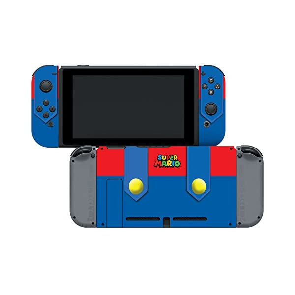 Controller Gear Officially Licensed Nintendo Switch Skin & Screen Protector Set - Super Mario - Mario's Outfit - Nintendo Switch 4