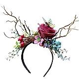 SuperUS Christmas Headbands - Reindeer Antler Headband Set, Plastic Novelty Xmas Accessories for Parties, Family Gatherings