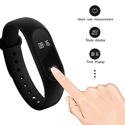 New Original Xiaomi Mi Band 2 Miband Wristband Bracelet With Smart Heart Rate Fitness Touchpad Oled Screen 2016