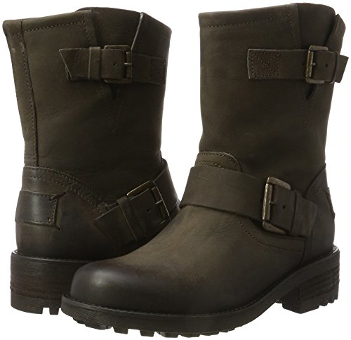 Marron dark 427502e6l Bullboxer Bottes Dkbw nbsp; Femme Motardes Brown pqXap1Yx