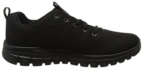 Skechers Sneaker Nero Black Connected Donna Graceful Get 1Sqrpw1