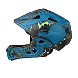 Kids Cycle Helmet In 6 Awesome Designs - For Cycling, Skating, Scooting - Adjustable Headband Vented Design - Suitable For Kids Aged 4, 5, 6, 7, 8, 9, 10 & 11 Years Old (for 52-56cm) ( Color : Blue )