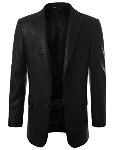 Black Leather Blazer Mens - 7