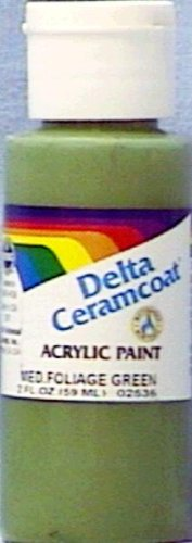 Ceramcoat Acrylic Paint 2oz-Medium Foliage Green - (Foliage Green Paint)
