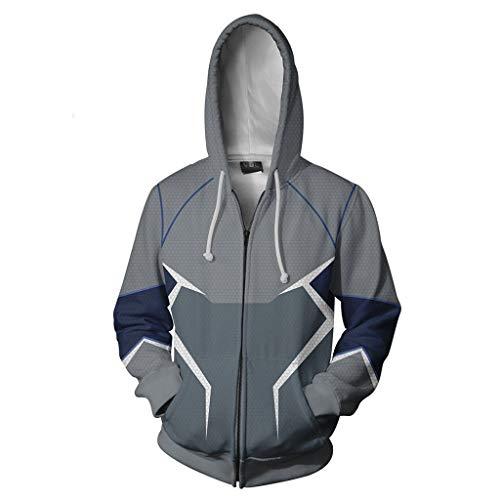 Marvel Hero Quicksilver 3D Digital Anime Sweatshirt Cosplay Anime Zipper Hoodie Long Sleeves Loose Hooded Hoody Novelty Outwear