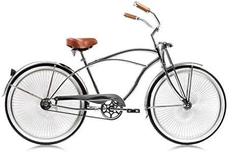 Micargi Cougar GTS for Man, All Chrome Beach Cruiser Bikes with 68-Spoke 26 Wheels Springer Front Fork