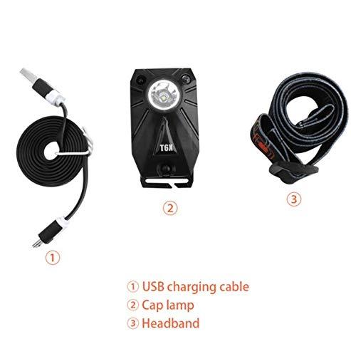 Linterna frontal con sensor de movimiento, cargador USB ...