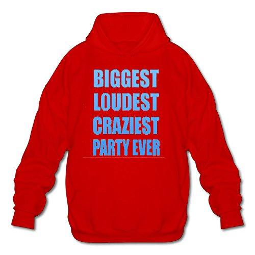 iest Party Ever Spring Autumn Long Sleeve for Men Custom Hoodie Sweatshirt SizeKey1Red ()