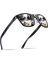 ATTCL Hombres Caliente del Retro Marco de metal polarizadas Wayfarer anteojos de sol anteojos de conducción para...