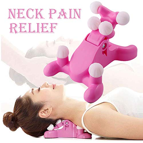 Cervical Pillow Neck and Head Pain Relief Back Massage Traction Device Support Relaxer Tension Headache Relief Trigger Point Therapy Best Hands-Free Device Sore Muscles