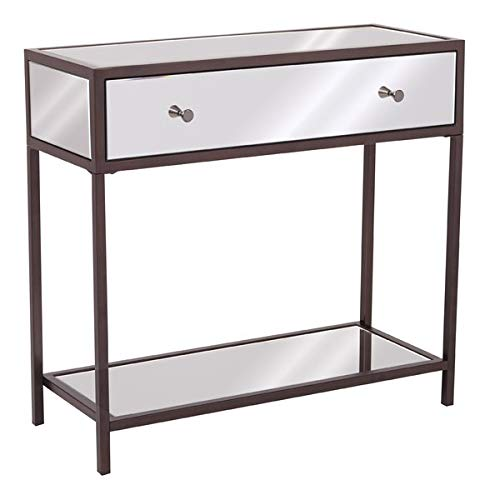 Amazon Com Wood Console Table With 1 Drawer And 1 Shelf Console