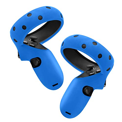 Fromsky Touch Controller Grip Cover for Oculus Quest/Oculus Rift S, Silicone Skin Controller Protector (Blue)