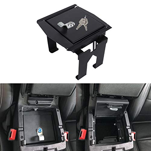 Sunluway for Jeep Wrangler JL 2018-2020 Security Console Insert Center Console Box Lock Console Vault Safe