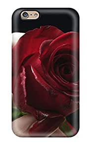 Cute High Quality Iphone 6 Red Rose & Red Lips Case